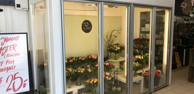 Kølerum til blomsterbutik