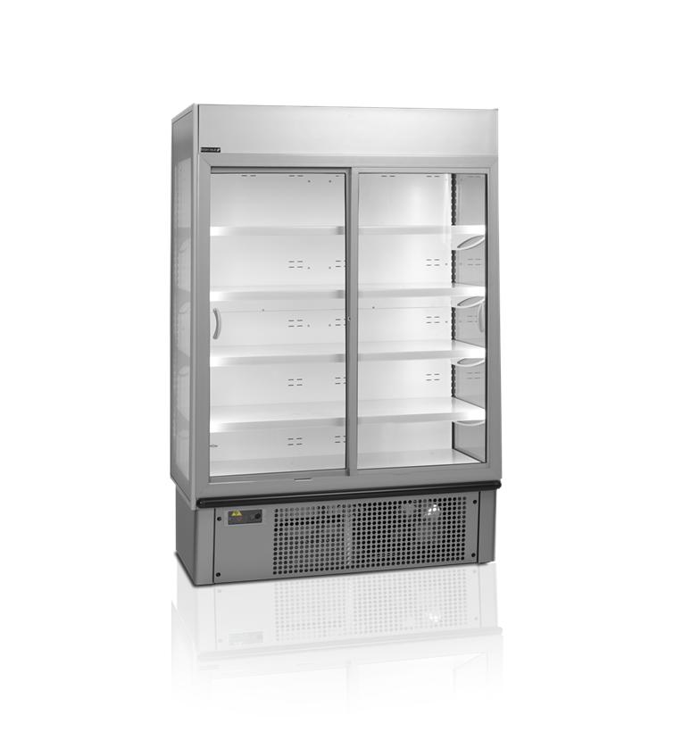 Kølereol med glasdøre