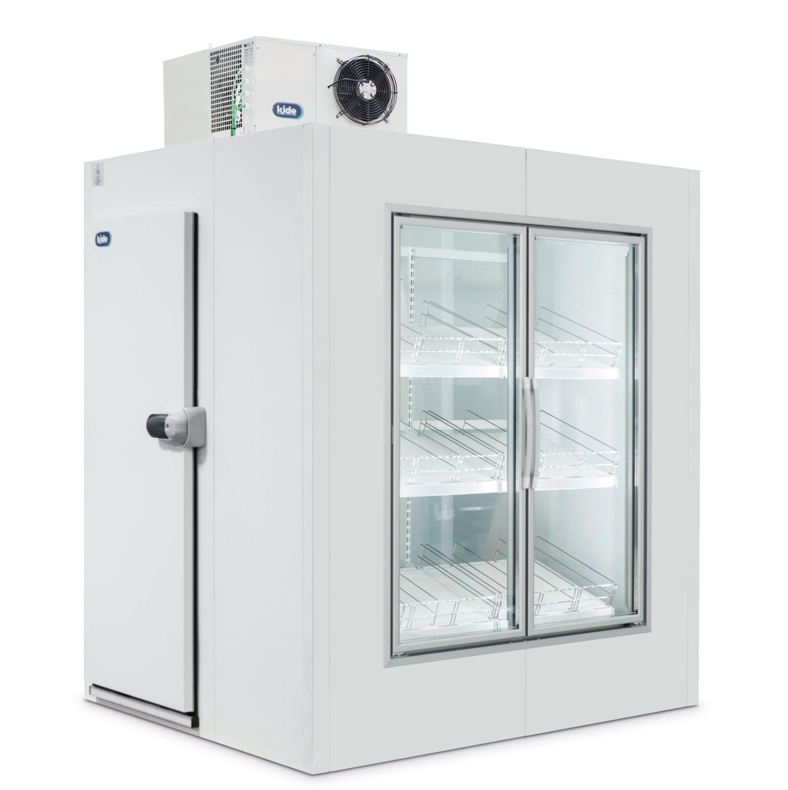 kølerum med glas dør