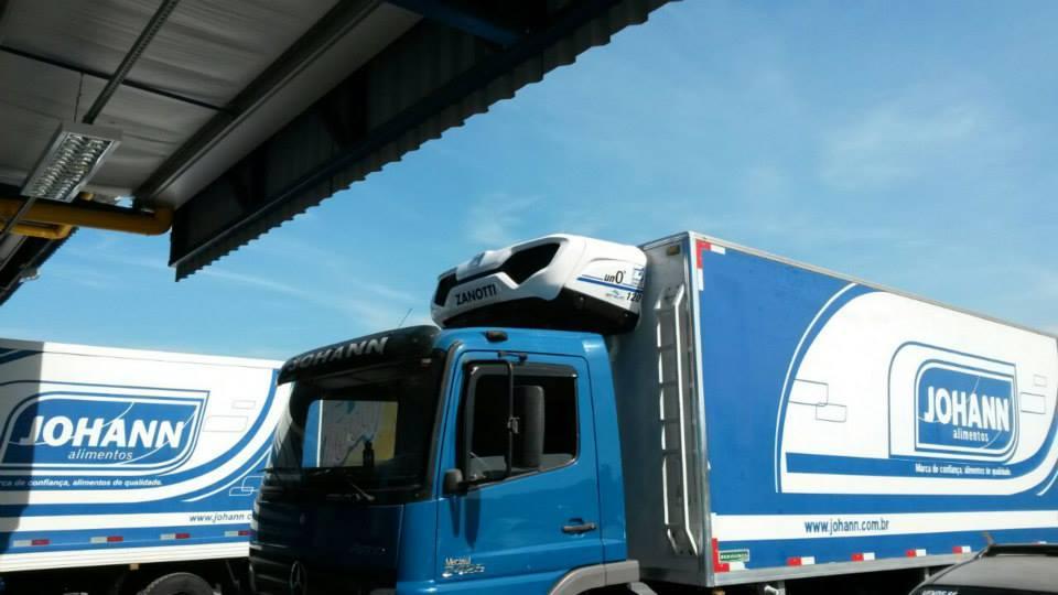 Lastbil med Zanotti Uno0 køling